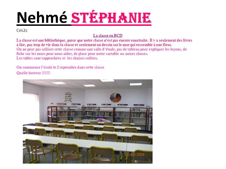 Nehmé Stéphanie Cm2c La classe en BCD