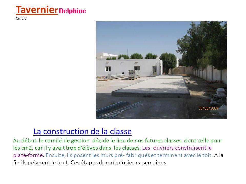 Tavernier Delphine La construction de la classe