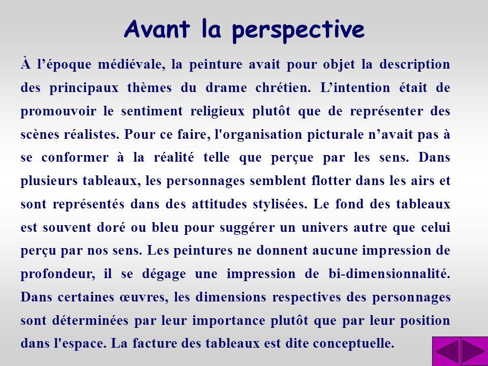 Avant la perspective