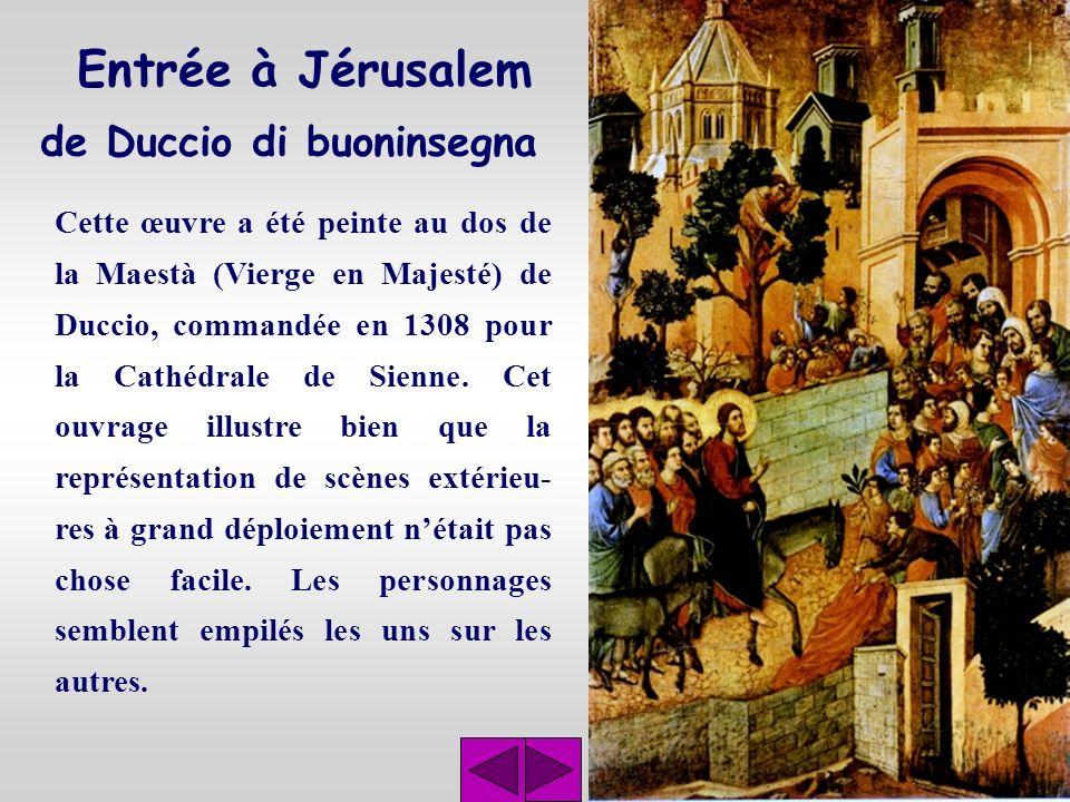Entrée à Jérusalem de Duccio di buoninsegna