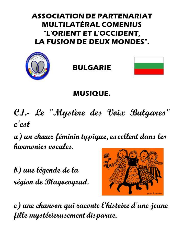 C.1.- Le Mystère des Voix Bulgares c est