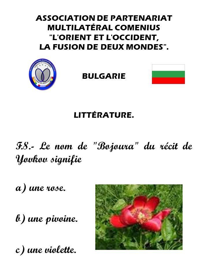 F.8.- Le nom de Bojoura du récit de Yovkov signifie