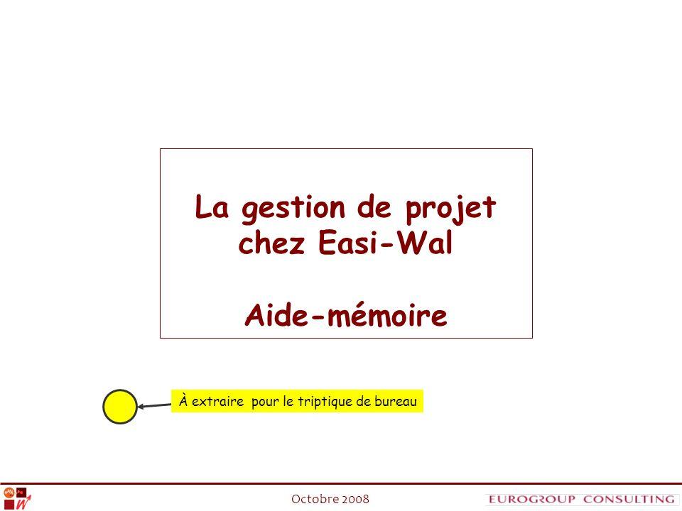 La gestion de projet chez Easi-Wal