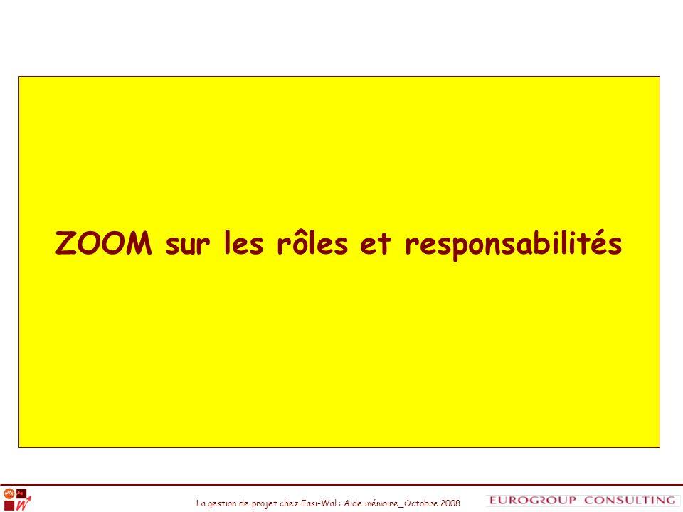 ZOOM sur les rôles et responsabilités