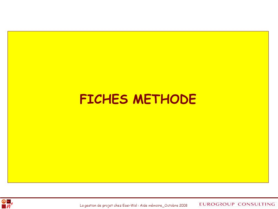 FICHES METHODE