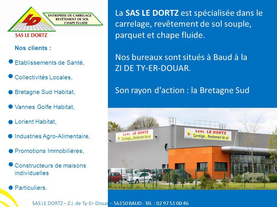Nos bureaux sont situés à Baud à la ZI DE TY-ER-DOUAR.