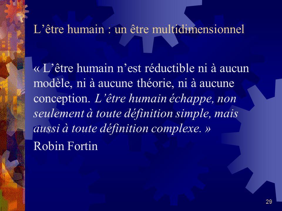 L'être humain : un être multidimensionnel