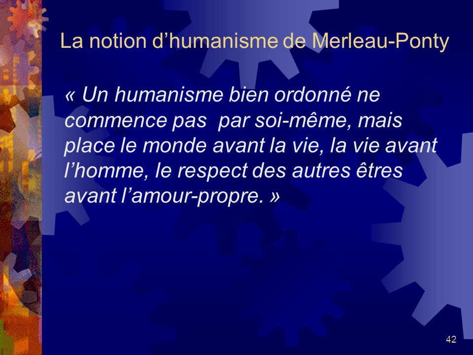 La notion d'humanisme de Merleau-Ponty