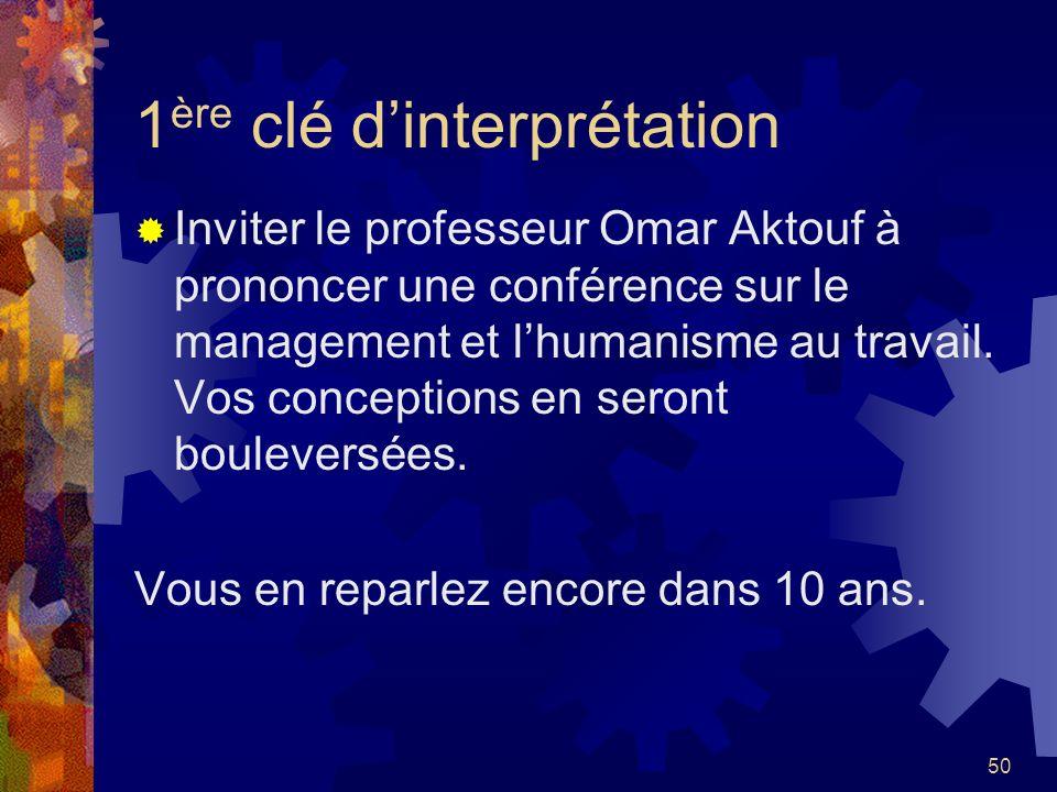 1ère clé d'interprétation
