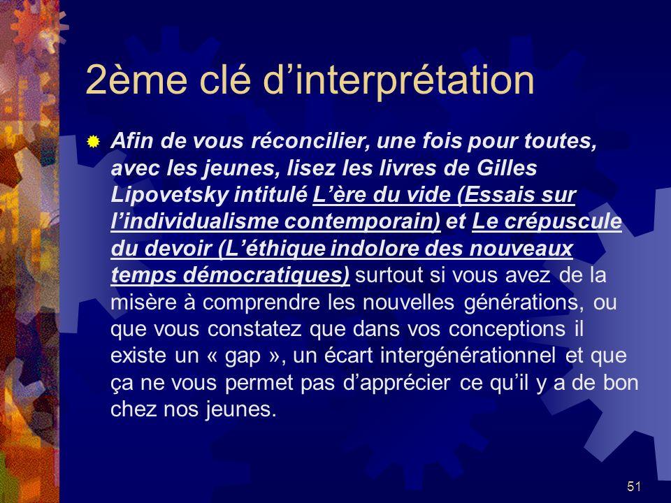 2ème clé d'interprétation