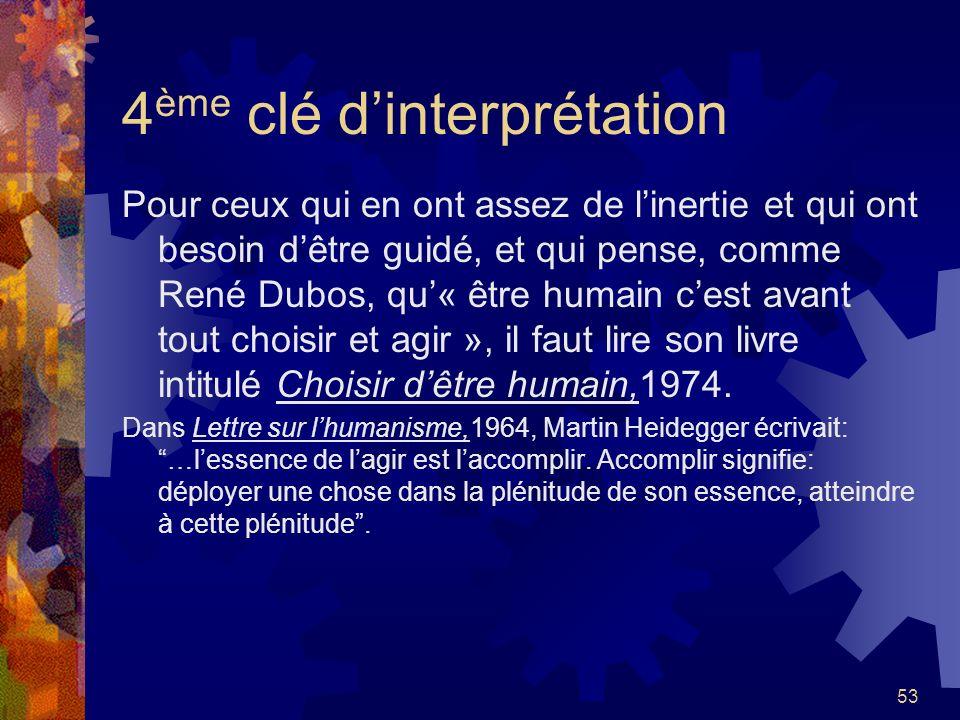4ème clé d'interprétation