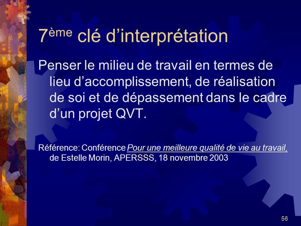 7ème clé d'interprétation