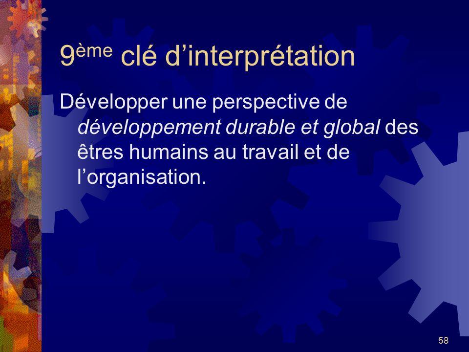 9ème clé d'interprétation
