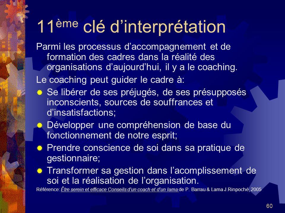 11ème clé d'interprétation