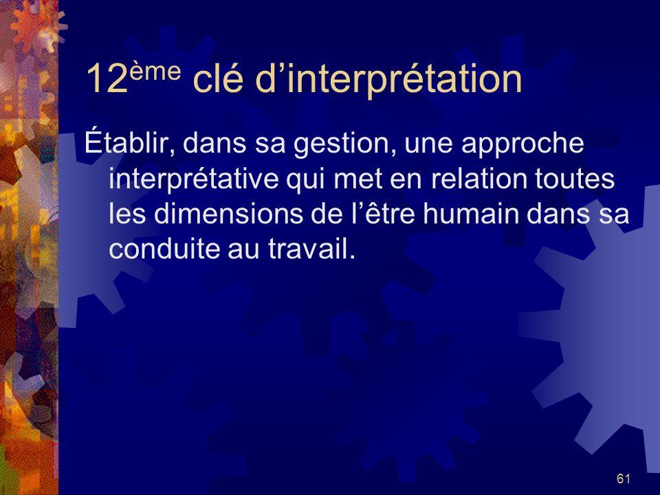 12ème clé d'interprétation