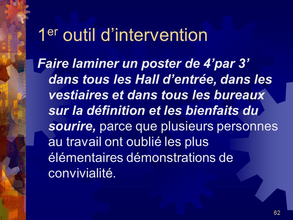1er outil d'intervention