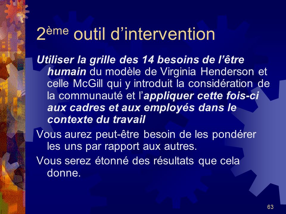 2ème outil d'intervention