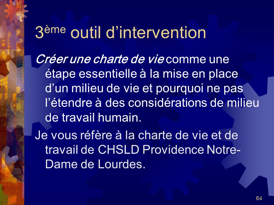3ème outil d'intervention