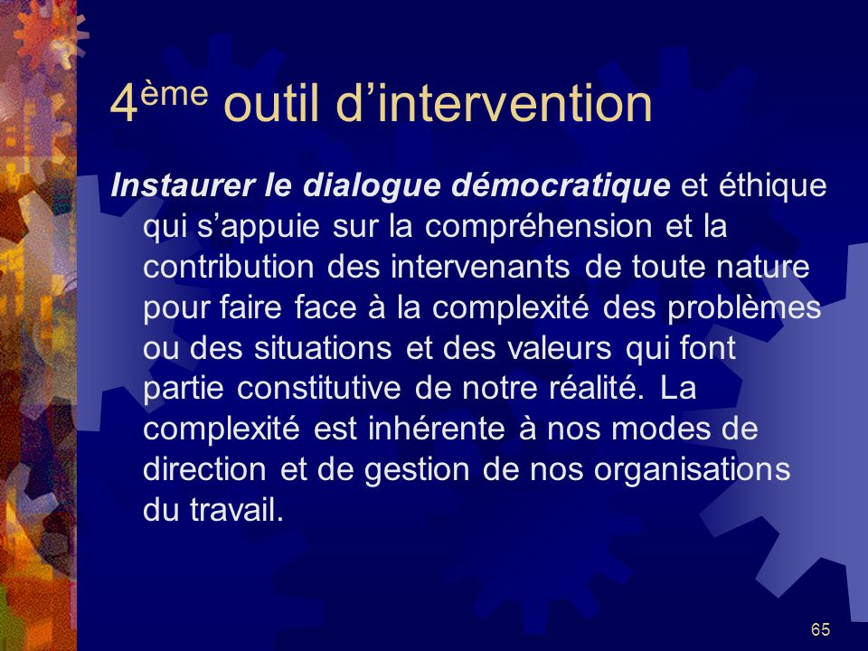 4ème outil d'intervention