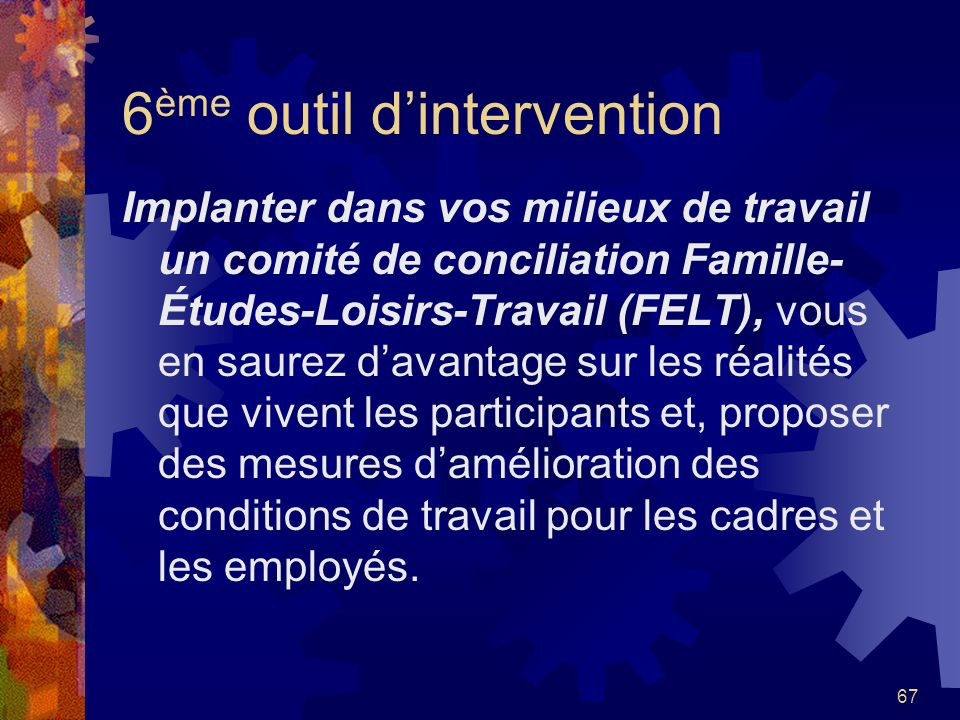 6ème outil d'intervention
