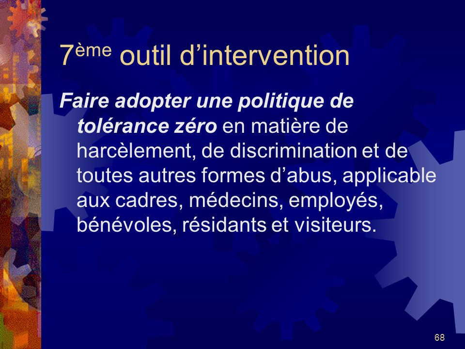 7ème outil d'intervention