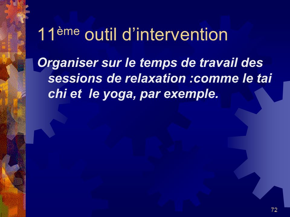 11ème outil d'intervention