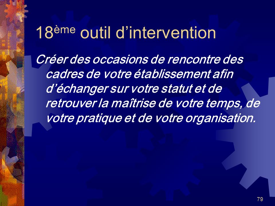 18ème outil d'intervention