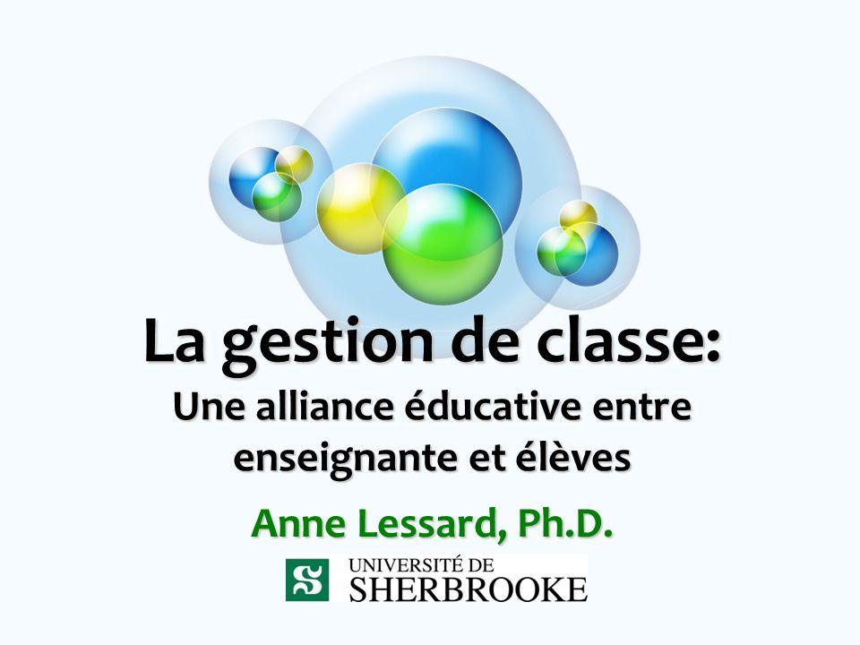 La gestion de classe: Une alliance éducative entre enseignante et élèves