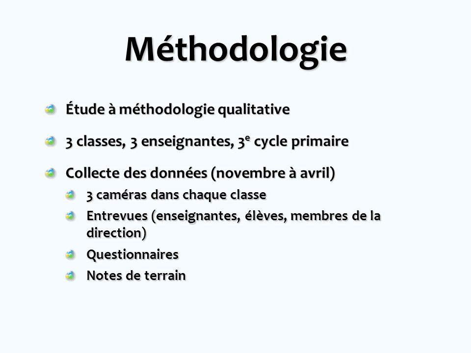 Méthodologie Étude à méthodologie qualitative