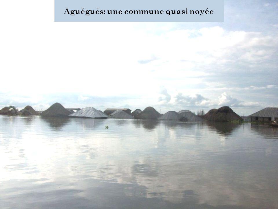 Aguégués: une commune quasi noyée