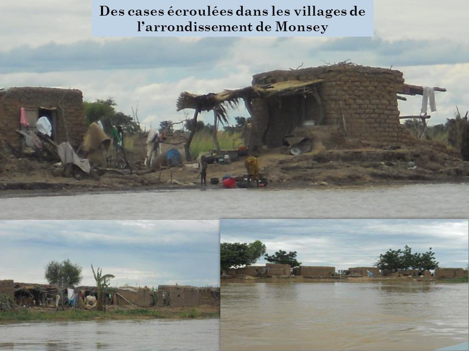 Des cases écroulées dans les villages de l'arrondissement de Monsey