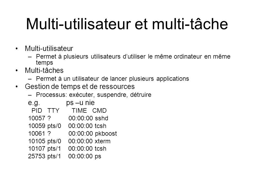 Multi-utilisateur et multi-tâche