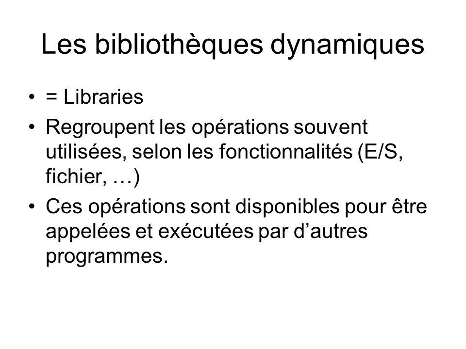 Les bibliothèques dynamiques