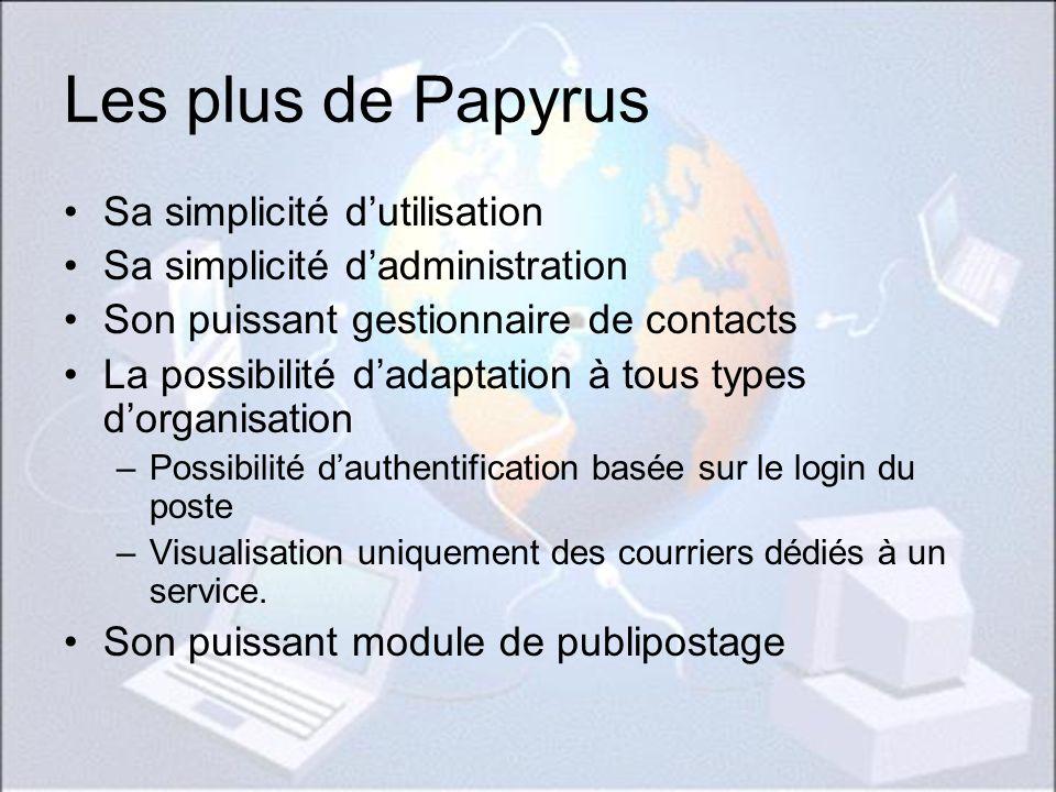 Les plus de Papyrus Sa simplicité d'utilisation