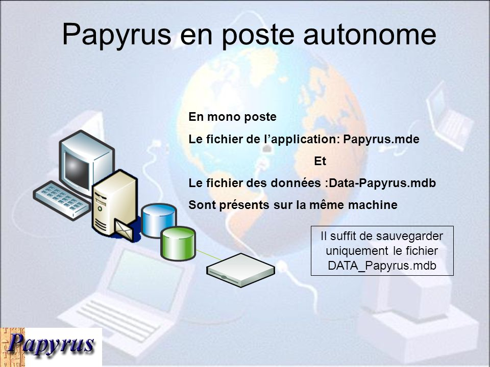 Papyrus en poste autonome