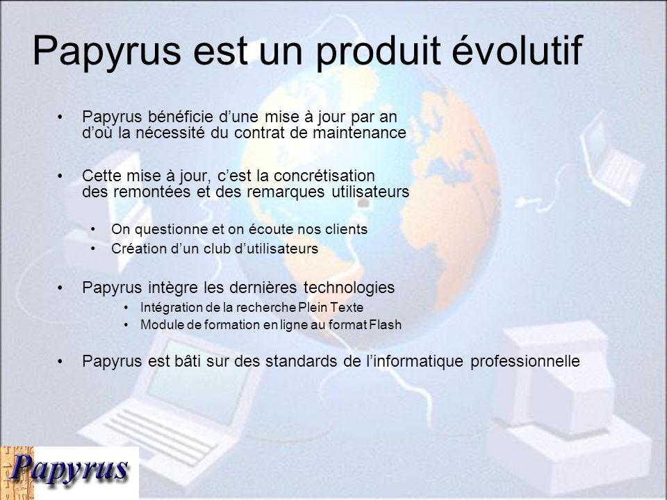 Papyrus est un produit évolutif