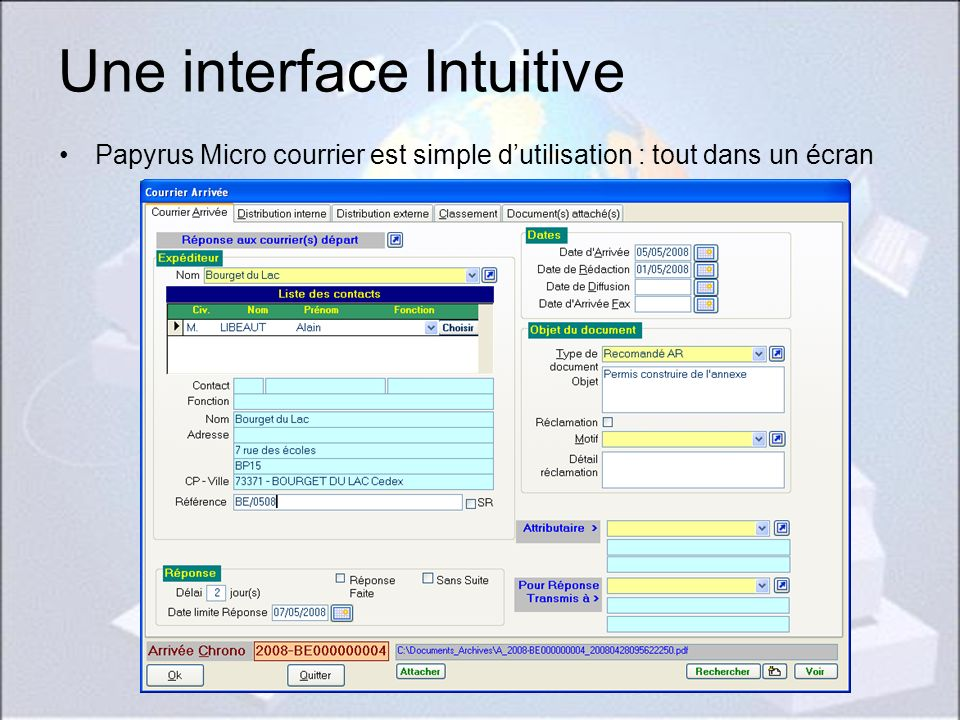 Une interface Intuitive