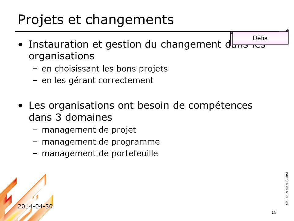 Projets et changements