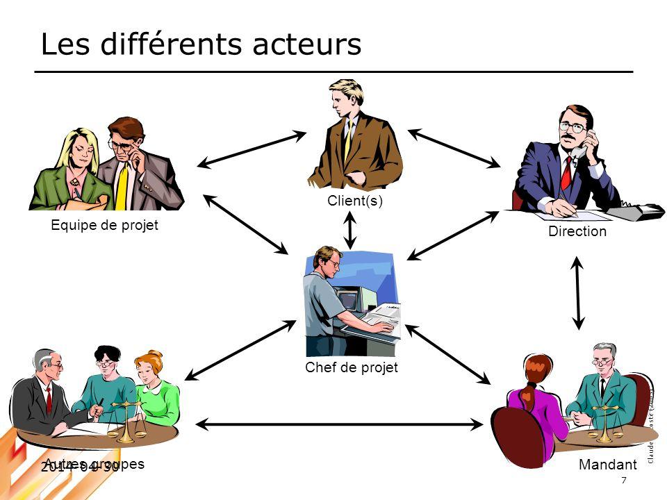 Les différents acteurs
