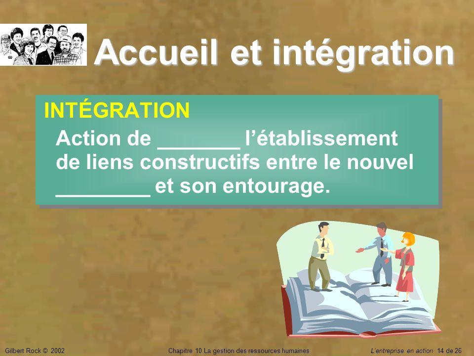 Accueil et intégration