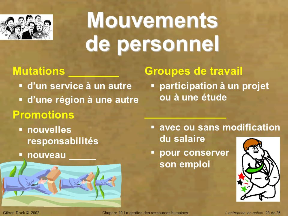 Mouvements de personnel