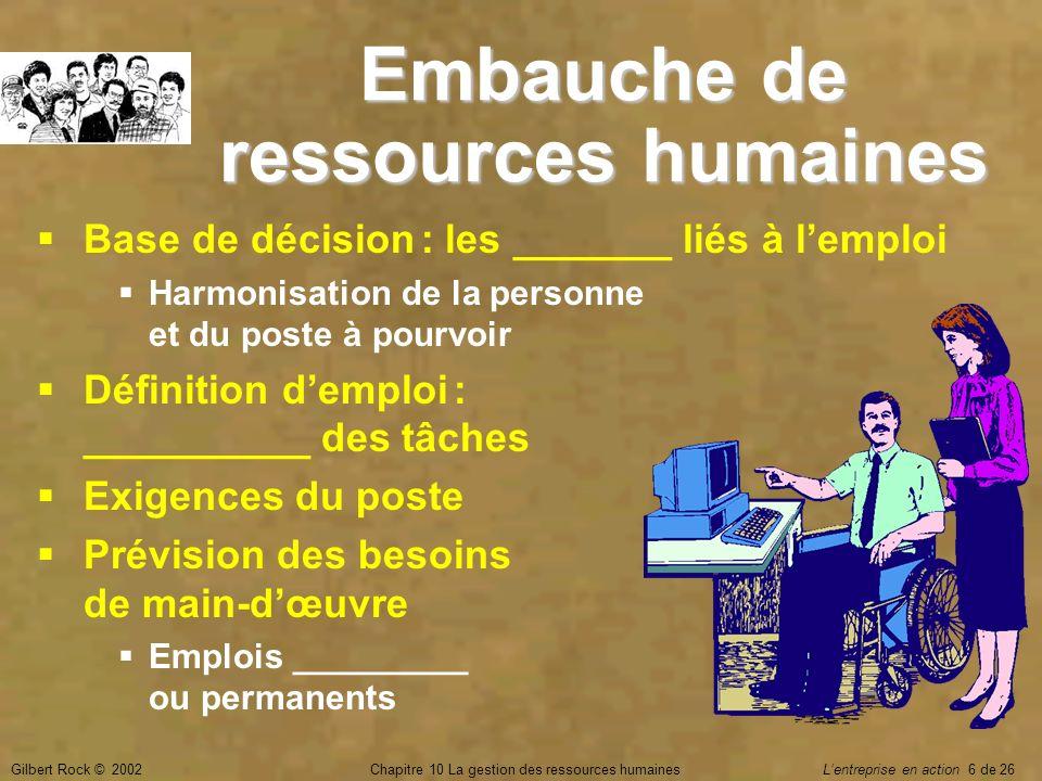 Embauche de ressources humaines