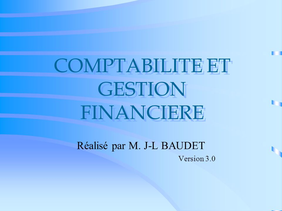 COMPTABILITE ET GESTION FINANCIERE