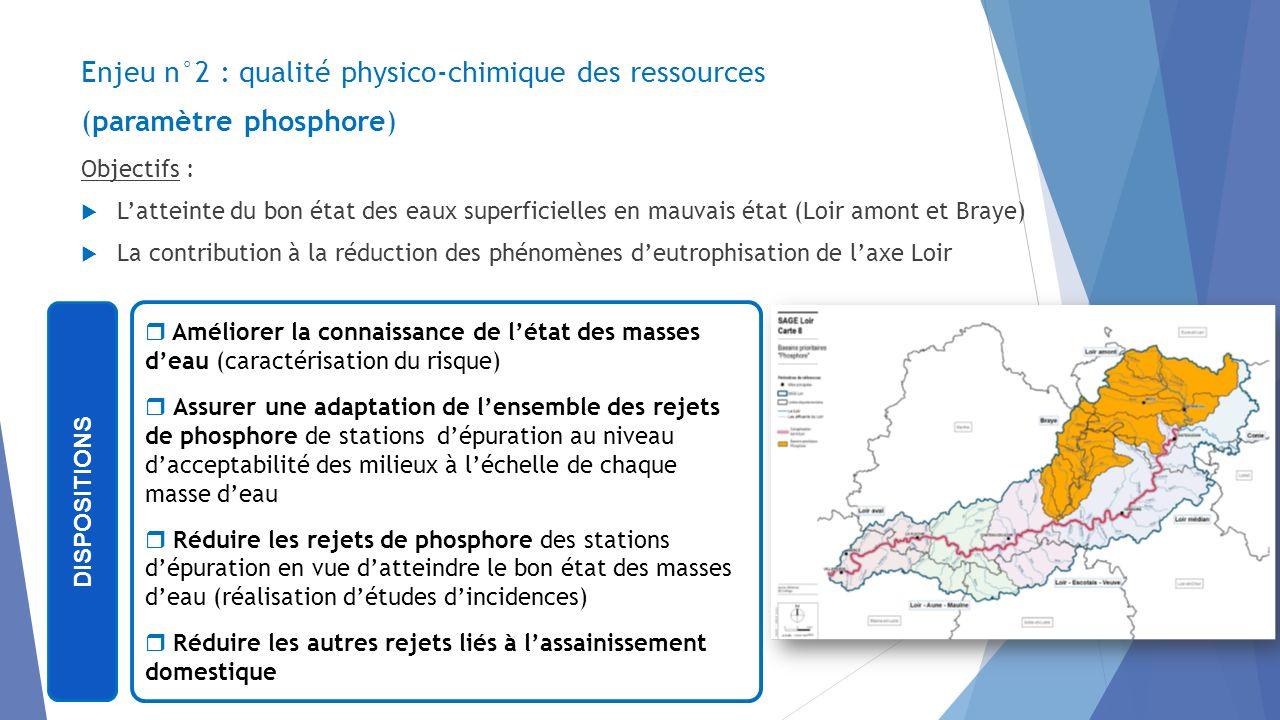 Enjeu n°2 : qualité physico-chimique des ressources