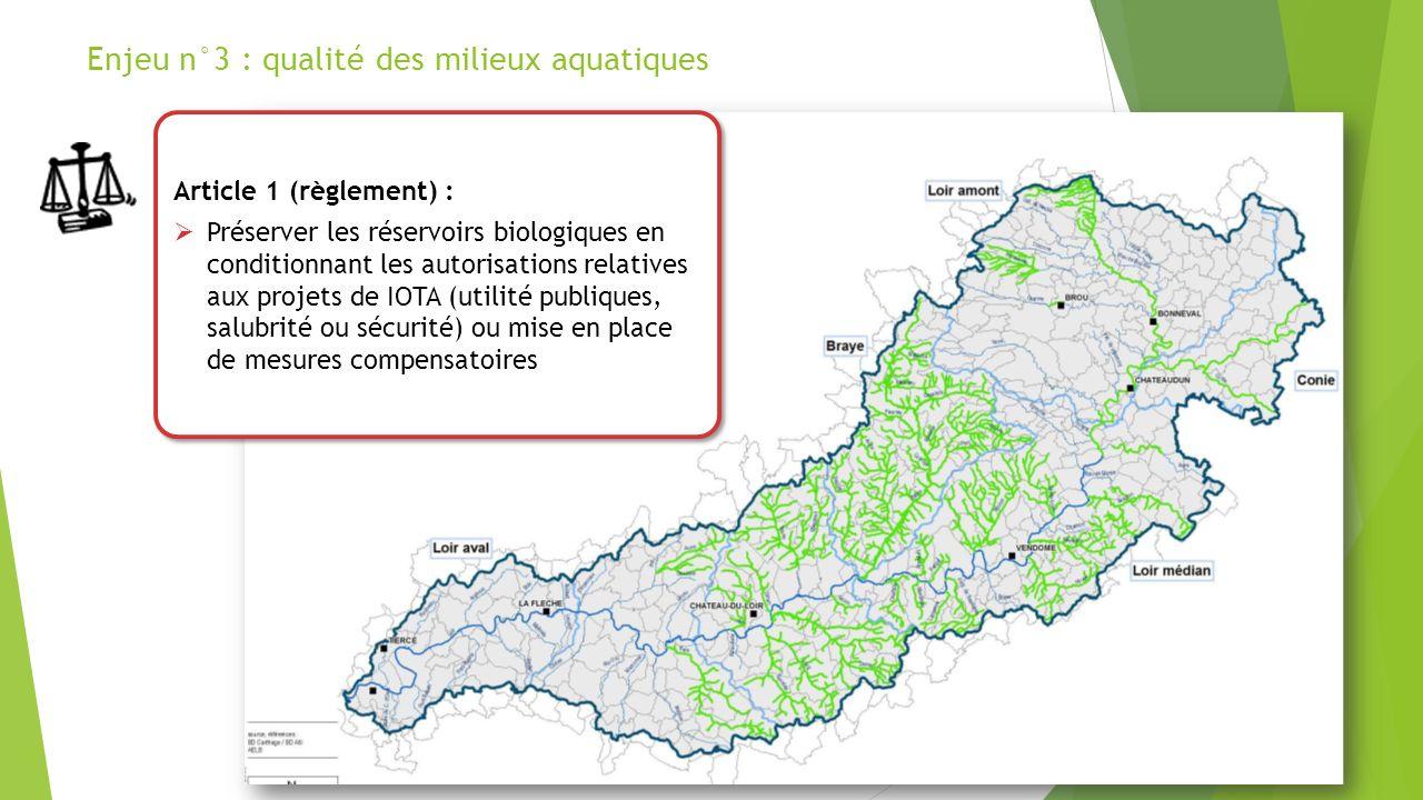 Enjeu n°3 : qualité des milieux aquatiques