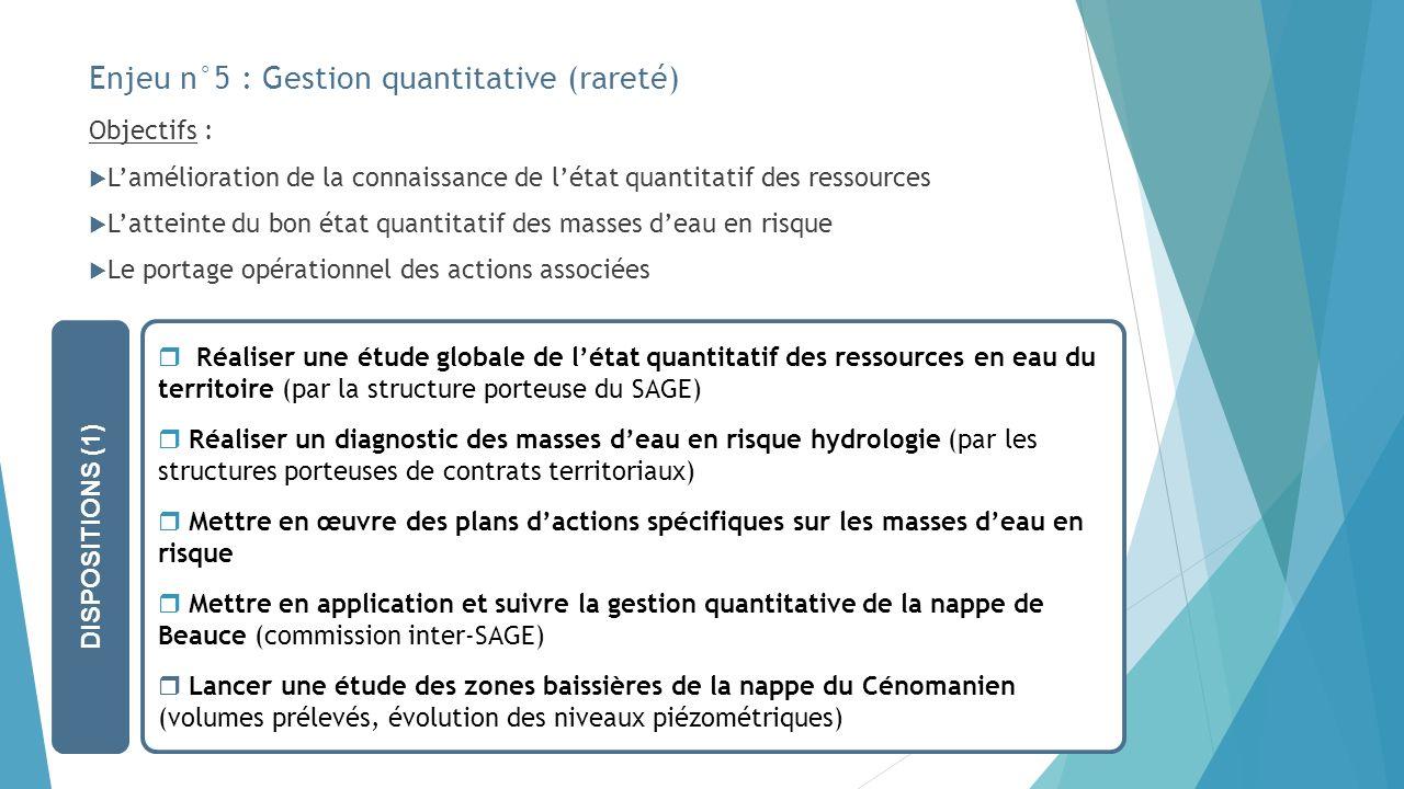 Enjeu n°5 : Gestion quantitative (rareté)