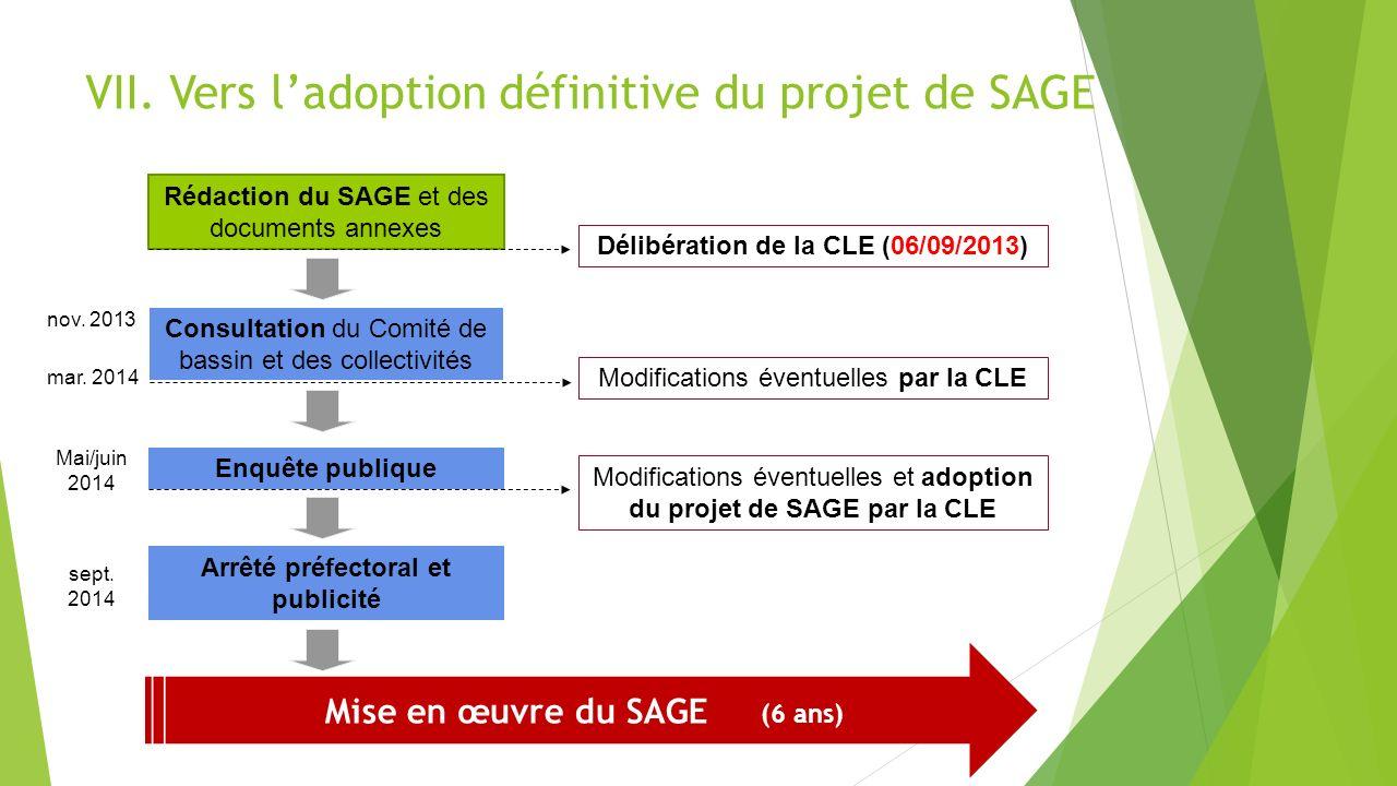 VII. Vers l'adoption définitive du projet de SAGE