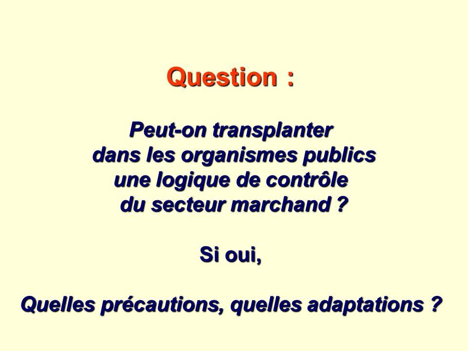 Question : Peut-on transplanter dans les organismes publics