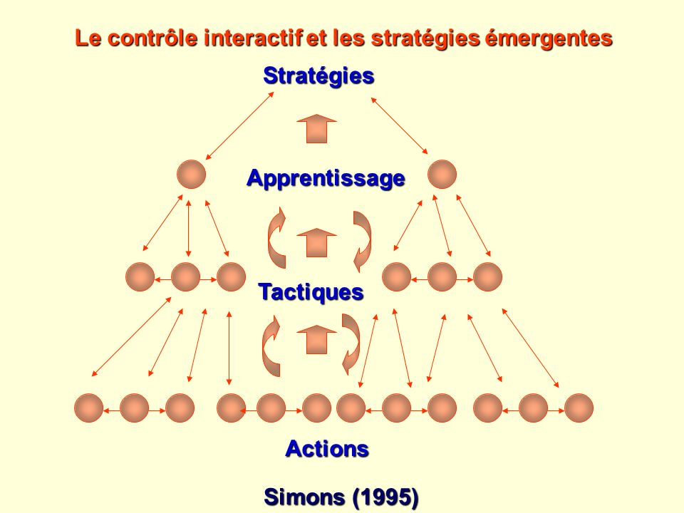 Le contrôle interactif et les stratégies émergentes