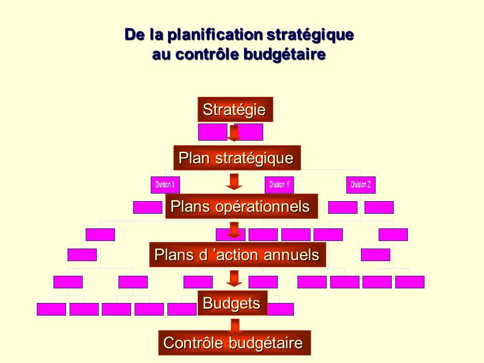 De la planification stratégique au contrôle budgétaire